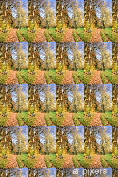 Vinyltapete nach Maß Herbstweg -