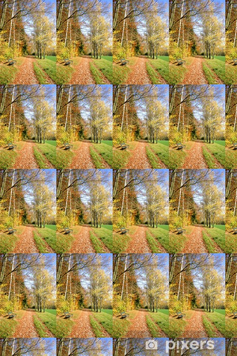 Herbstweg Vinyl custom-made wallpaper -