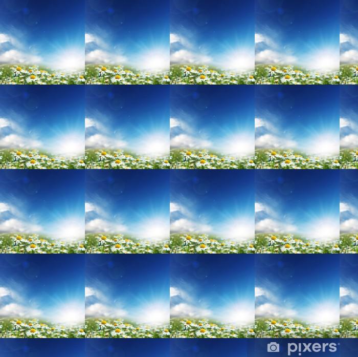 Daisy flowers and sunny day. Vinyl custom-made wallpaper - Seasons