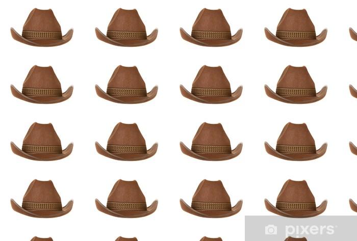 cowboy hat isolated on white Vinyl custom-made wallpaper - Fashion