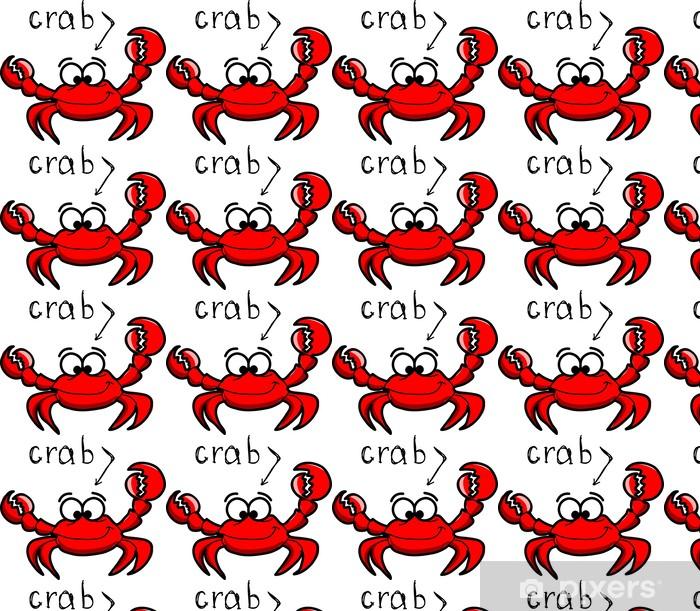 Papier peint vinyle sur mesure Crabe de bande dessinée, illustration - Animaux marins