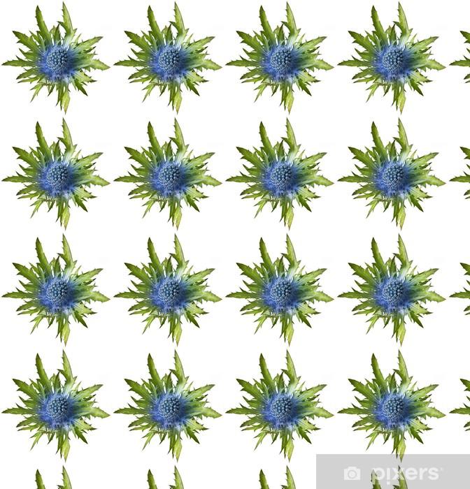Papier peint vinyle sur mesure Eryngium alpinum chardon - Fleurs