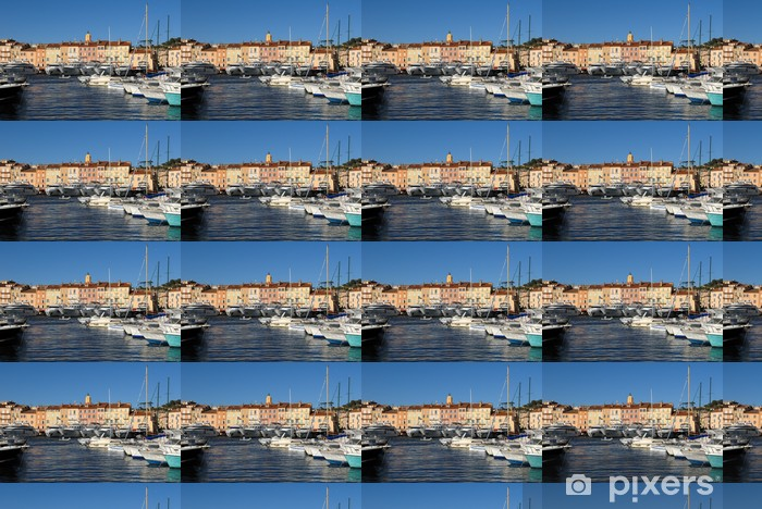 Hafen In St Tropez Wallpaper Vinyl Custom Made