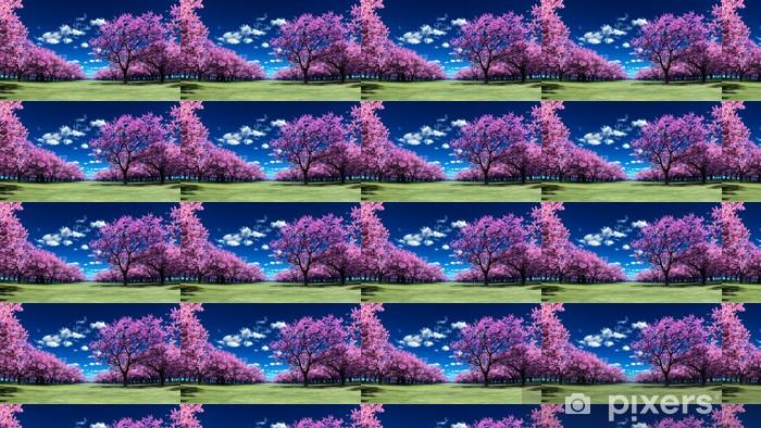 Papier peint vinyle sur mesure Sakura - Forêt