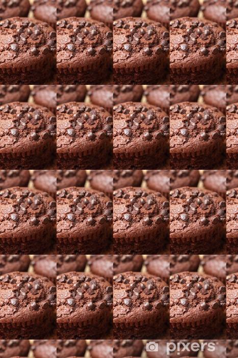 Papier peint vinyle sur mesure Muffins au chocolat - Thèmes