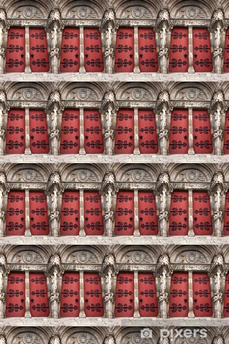 les portes de l'abbatiale de Saint Gilles Vinyl Wallpaper - Europe