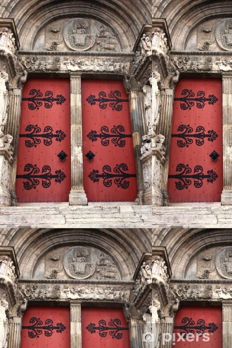 Vinyltapet Les portes de l'abbatiale de Saint Gilles - Europa