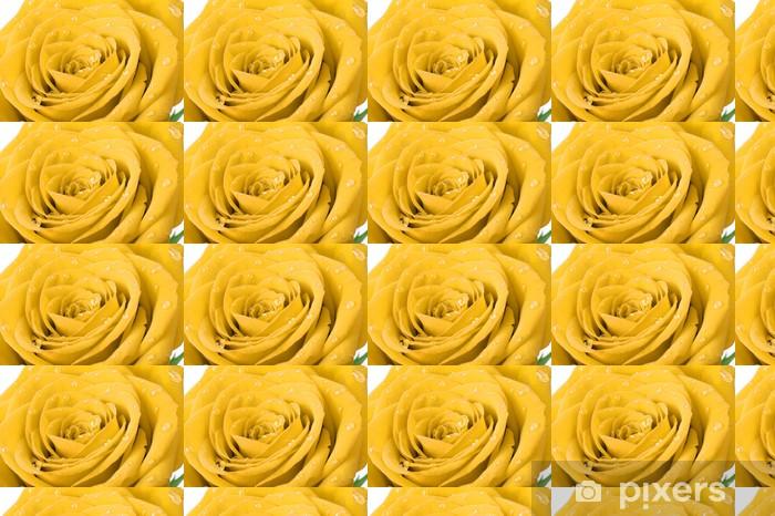 Vinyltapete nach Maß Gelbe Rose mit Wassertropfen - Themen