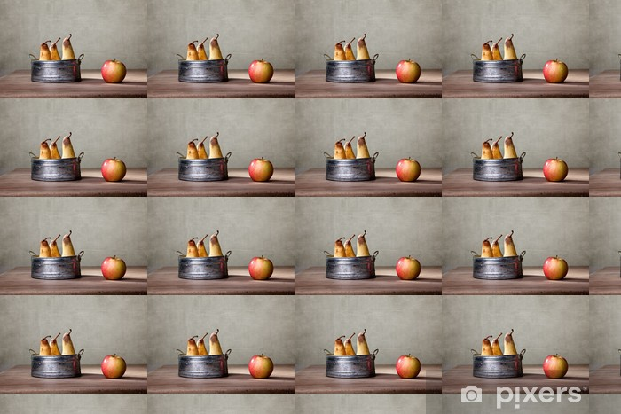 Papier peint vinyle sur mesure Pommes et poires - Repas