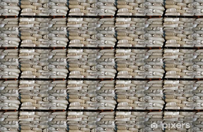 Vinylová tapeta na míru Naskládané pytle ve skladu - Zemědělství