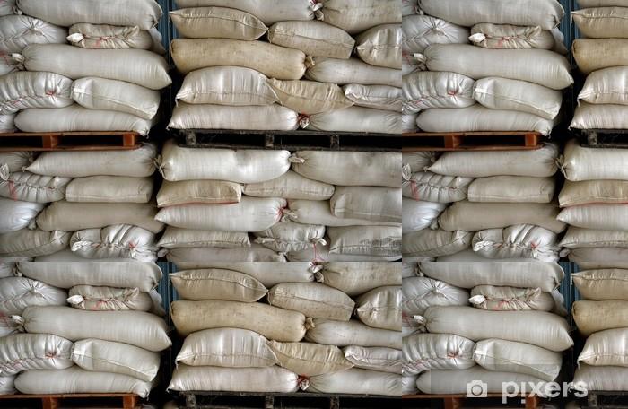 Vinylová Tapeta Naskládané pytle ve skladu - Zemědělství