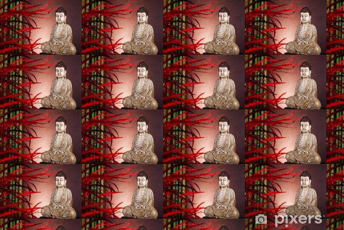 Papier peint vinyle sur mesure Statue de Bouddha en méditation - Thèmes