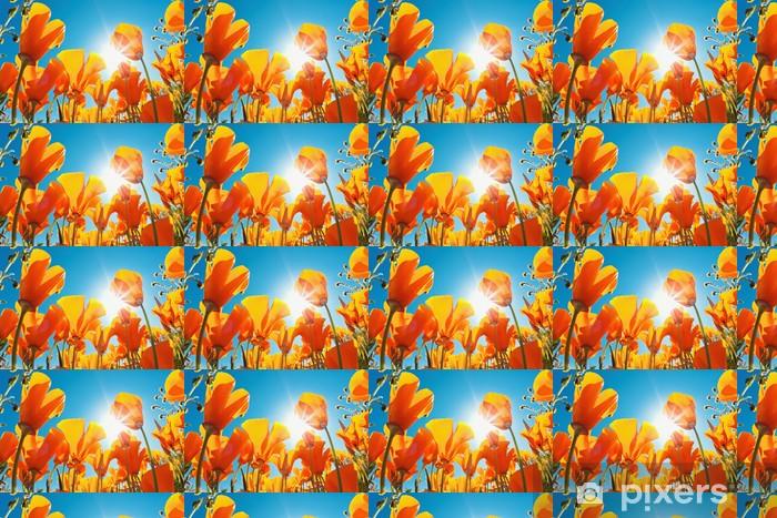 Papier peint vinyle sur mesure Belles fleurs de printemps - Fleurs