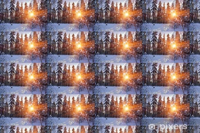 Tapeta na wymiar winylowa Zimowy las w śniegu w słoneczny dzień - Pory roku