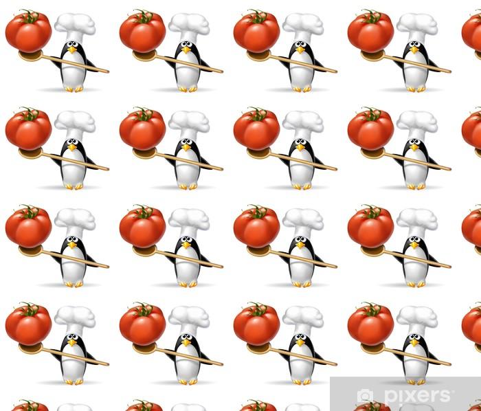 Vinylová tapeta na míru Pinguino Pomodoro 2 - Nálepka na stěny