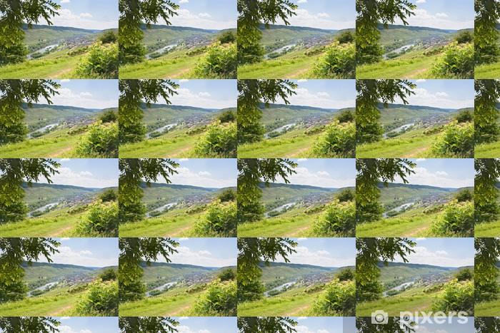 Vinylová tapeta na míru Pohled na údolí Mosely a řeky Mosely v letní den, Německo - Evropa