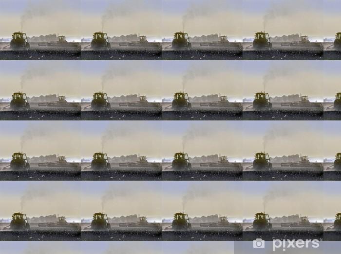 Papier peint vinyle sur mesure Tracteur - Agriculture