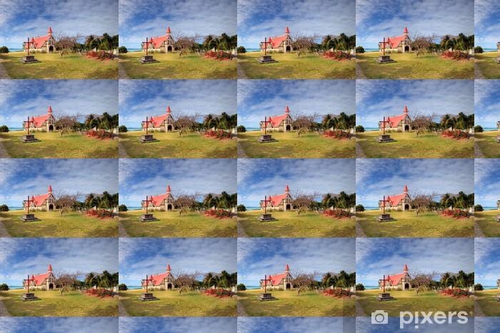 Tapeta na wymiar winylowa Czerwonym dachem kościoła, Mauritius - Afryka