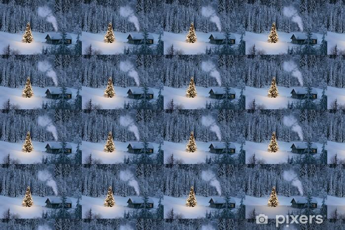 Live Wallpaper Weihnachten.Weihnachten In Den Bergen Wallpaper Vinyl Custom Made