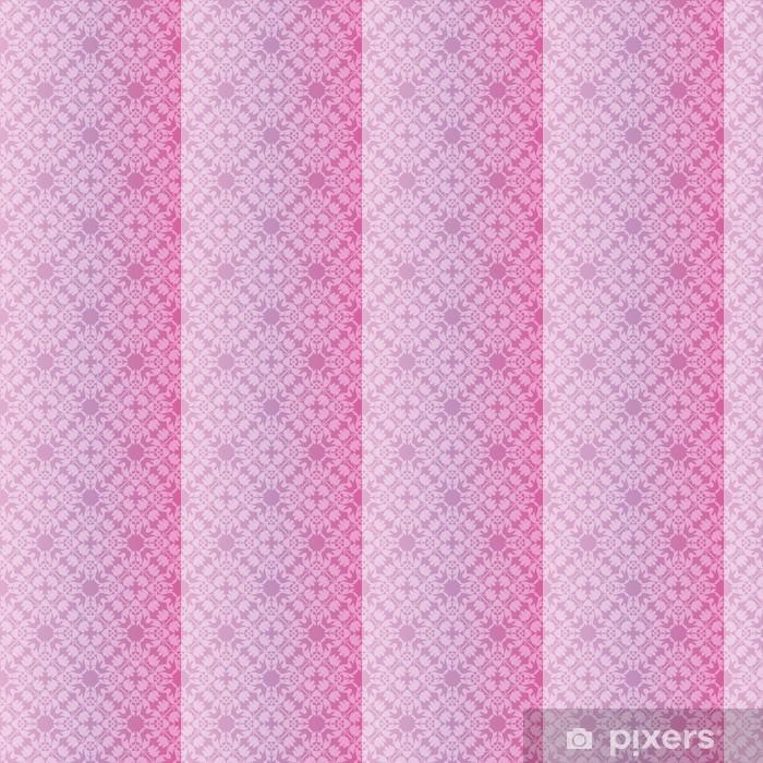 Vinyltapete nach Maß Nahtlose und elegante Barock-Muster mit Blumen - Stile