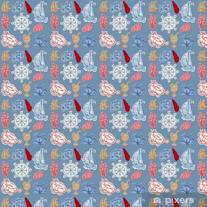 Tapeta na wymiar winylowa Nautica doodles na Torn papieru Ręcznie rysowane kolekcję w wektorze - Wakacje