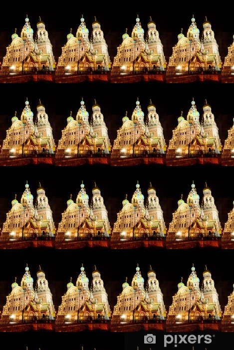 Church of the Savior on Blood in Sait Petersburg by night Vinyl custom-made wallpaper - Public Buildings