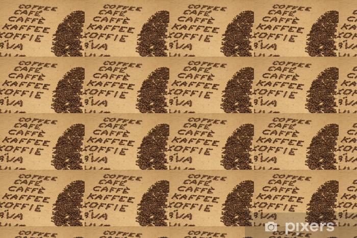 Vinylová tapeta na míru Word kávu v různých jazycích v úhlu - Témata