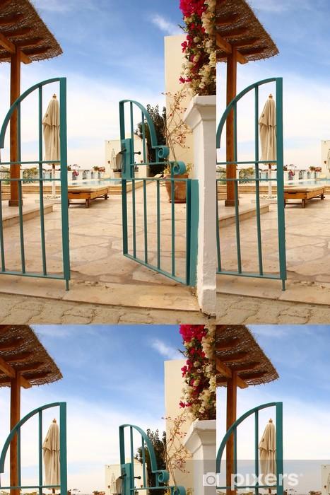Vinylová Tapeta E Villa zahradní dveře a bazénem II - Soukromé budovy