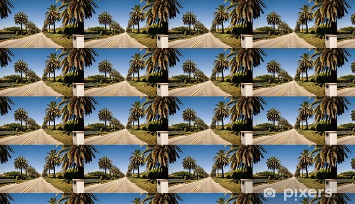 Papier peint vinyle sur mesure Palm route à Santa Barbara - Merveilles naturelles
