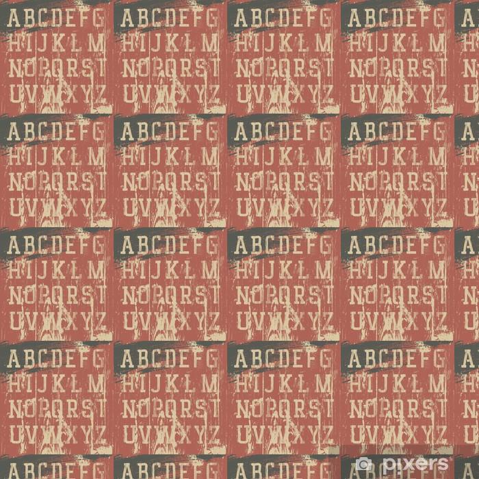 Papier peint vinyle sur mesure Vintage grunge alphabet occidental, ensemble de vecteurs - Thèmes