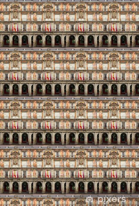 Vinyltapete nach Maß Fassade des alten Gebäudes, Madrid, Spanien - Europäische Städte