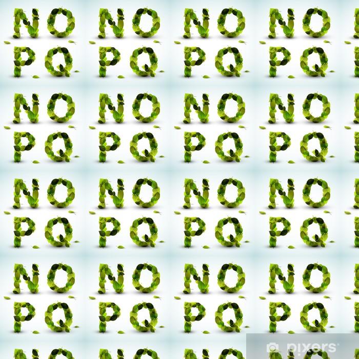 Papier peint vinyle sur mesure Lettres de l'alphabet vecteur fabriqués à partir de feuilles - Thèmes