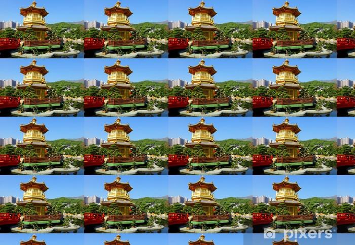 Papier peint vinyle sur mesure Pavillon dans le jardin chinois - Propriétés privées