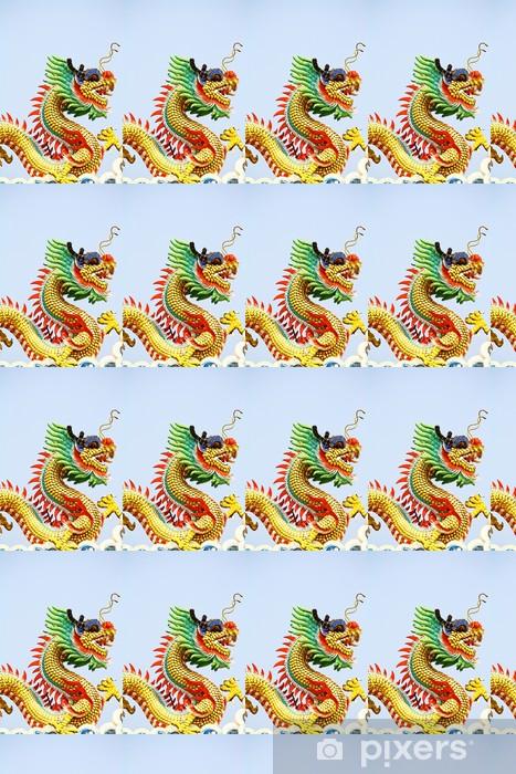 Papier peint vinyle sur mesure Chinois dragon - Monuments