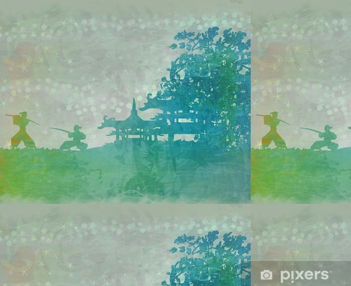 Vinylová Tapeta Samurai silueta v asijské krajiny - Styly