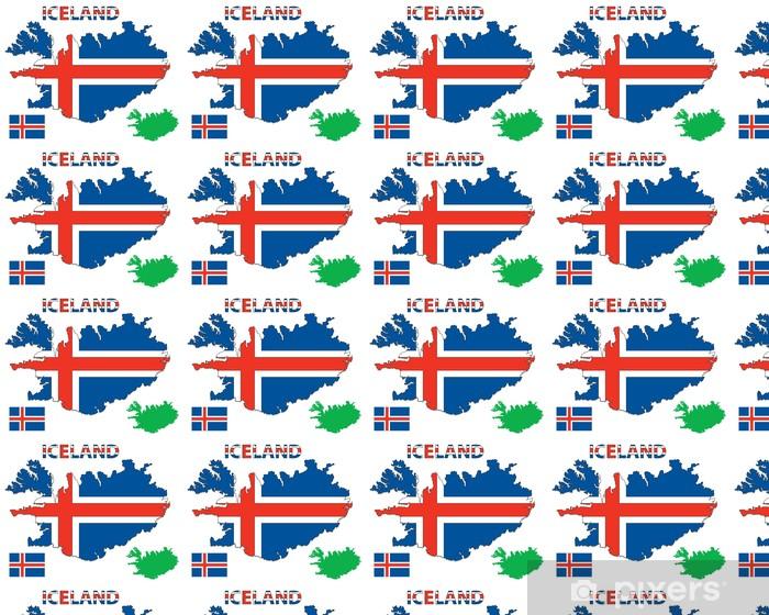 Islannin Kartta Ja Lippu Tapetti Pixers Elamme Muutoksille