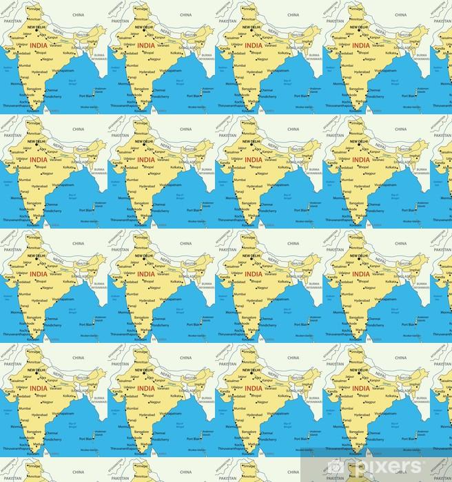 Tapet Indien Vektor Karta Pixers Vi Lever For Forandring