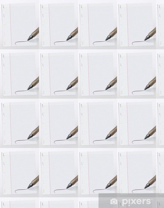 Tapeta na wymiar winylowa Notatki napisane na kartce papieru milimetrowego - Czytanie