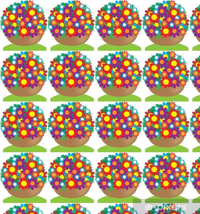 Papier peint vinyle sur mesure Корзина с цветами. Вектор - Évènements nationaux