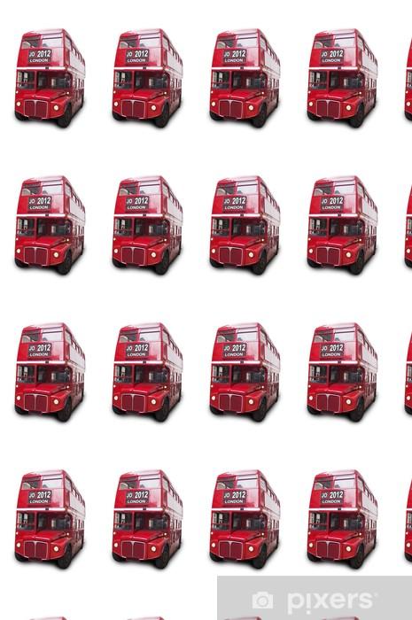Papier peint vinyle sur mesure Bus rouge Isolé fond blanc Londres 2012 - Villes européennes