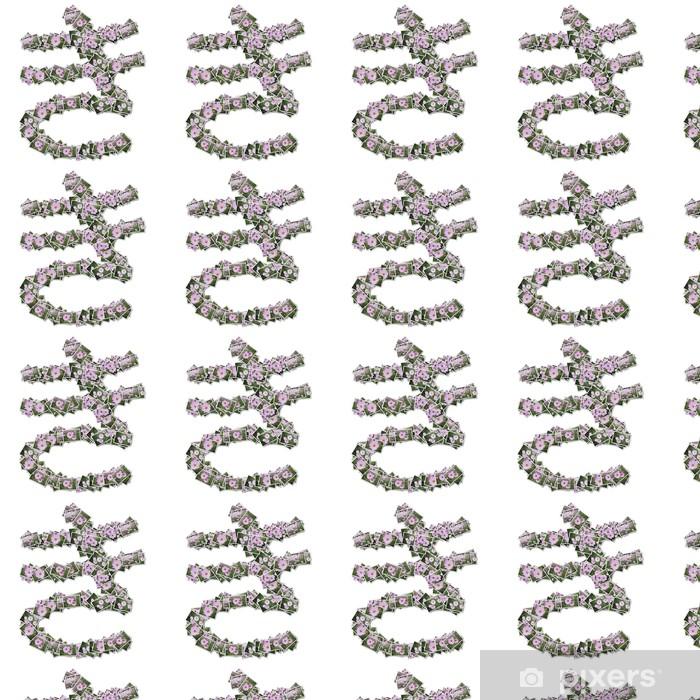 Tapeta na wymiar winylowa Japoński znaków hiragana, wykonane z kwiatów zdjęcie. - Znaki i symbole