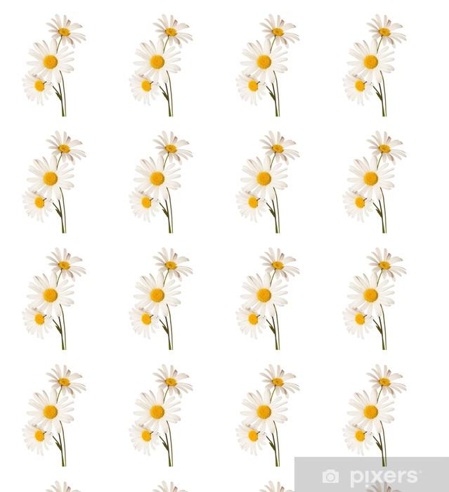 Vinylová tapeta na míru Tři Chamomiles na bílém pozadí - Květiny