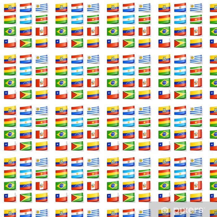 World Flags South America Wallpaper Vinyl Custom Made