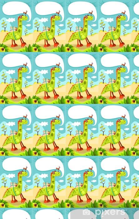 Vinyl behang, op maat gemaakt Dino - Denkbeeldig dieren