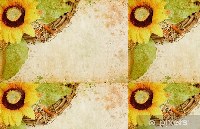 Vinylová Tapeta Grunge retro pozadí s slunečnic a kopírování prostor - Umění a tvorba