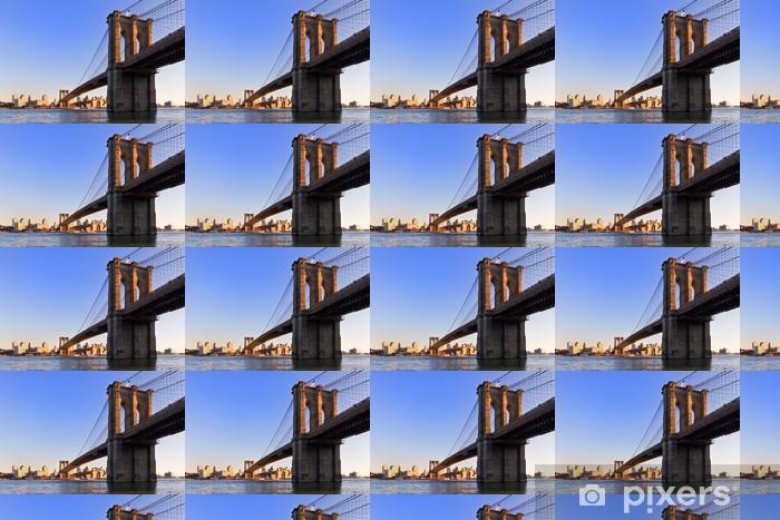 Papier peint vinyle sur mesure Pont de Brooklyn, New York - Thèmes