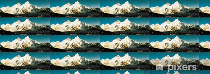 Papier peint vinyle sur mesure Vue de la soirée de l'Everest et le Nuptse de Kala Patthar - Thèmes