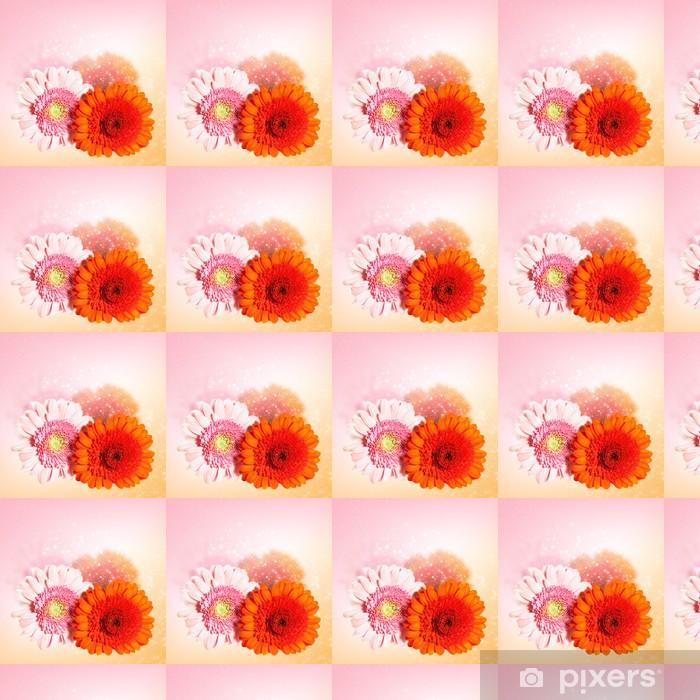 Papier peint vinyle sur mesure Belle fleur gerbera - Fleurs