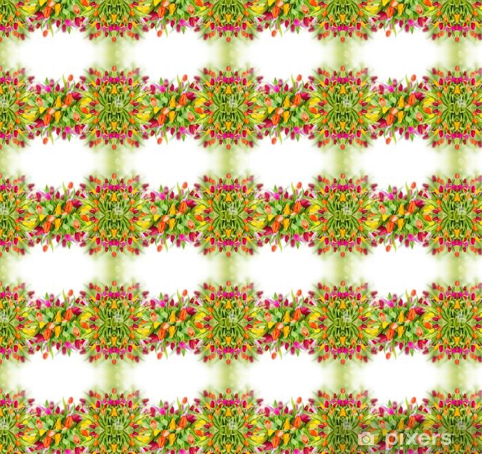 Vinyltapete nach Maß Tulpen Hintergrund mit freiem Platz für Ihren Text - Blumen