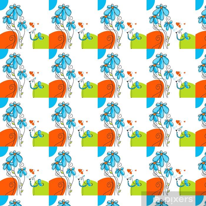 Bird and flowers love story Vinyl Custom-made Wallpaper - National Events